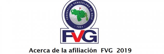 Nuevas condiciones de afiliación a la FVG en 2019