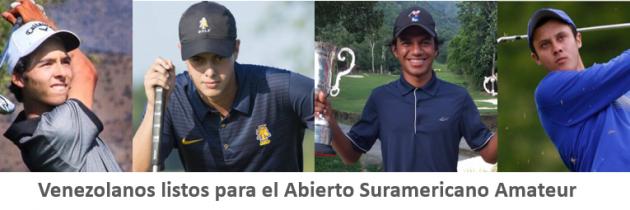 Venezolanos listos para el Abierto Sudamericano Amateur 2019