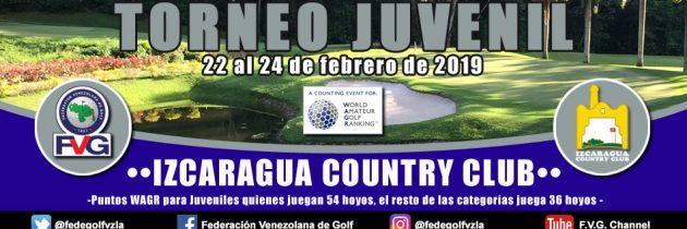 Cerradas las inscripciones al Torneo Juvenil Izcaragua Country Club