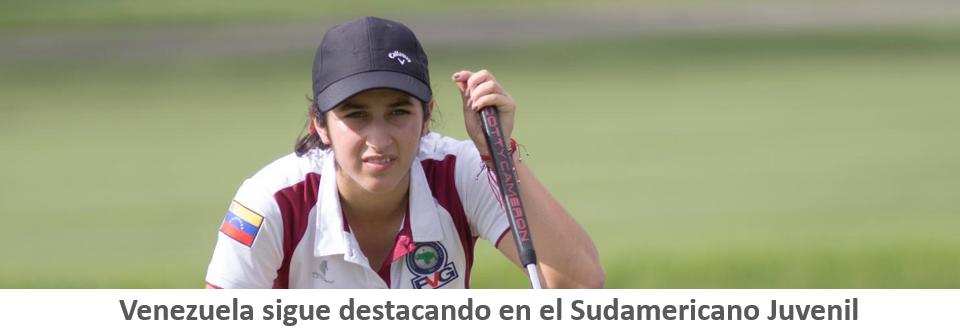 Gilly es la guía de Venezuela en Sudamericano Juvenil de golf