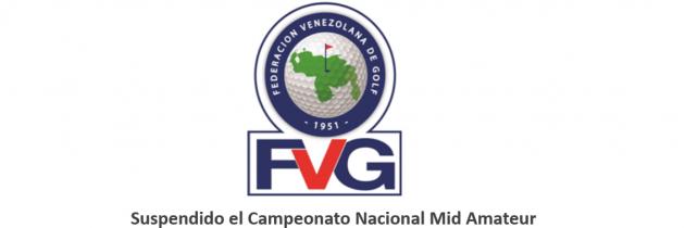 Suspendido el Campeonato Nacional Mid Amateur