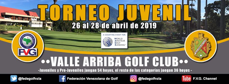 Torneo Juvenil Valle Arriba Golf Club Reprogramado