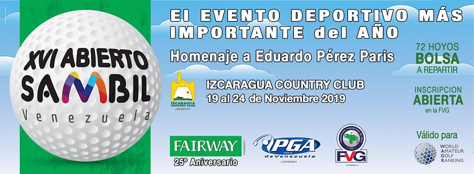 XVI Abierto Sambil Venezuela Homenaje a Eduardo Pérez París en el Izcaragua Country Club