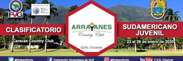 Clasificatorio Sudamericano Juvenil 2020 Caracas Country Club
