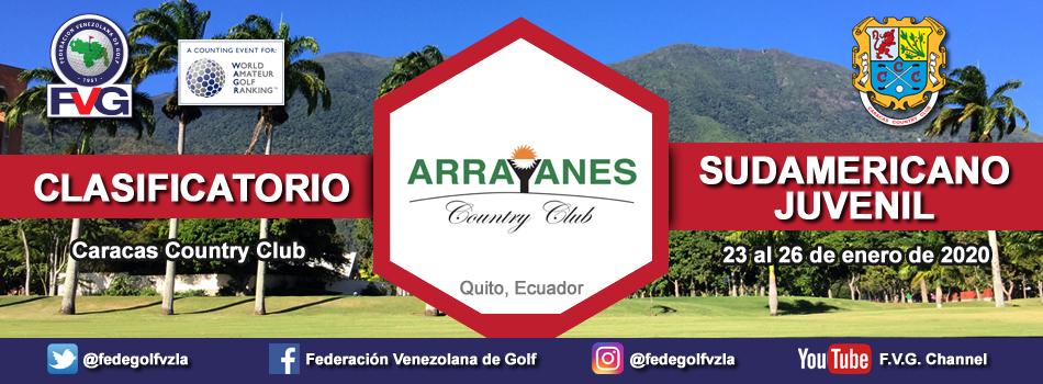 Clasificatorio Sudamericano Juvenil 2020 Caracas Country Club.