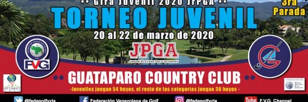 Torneo Juvenil Guataparo Country Club, 3era parada Gira Juvenil JrPGA 2020
