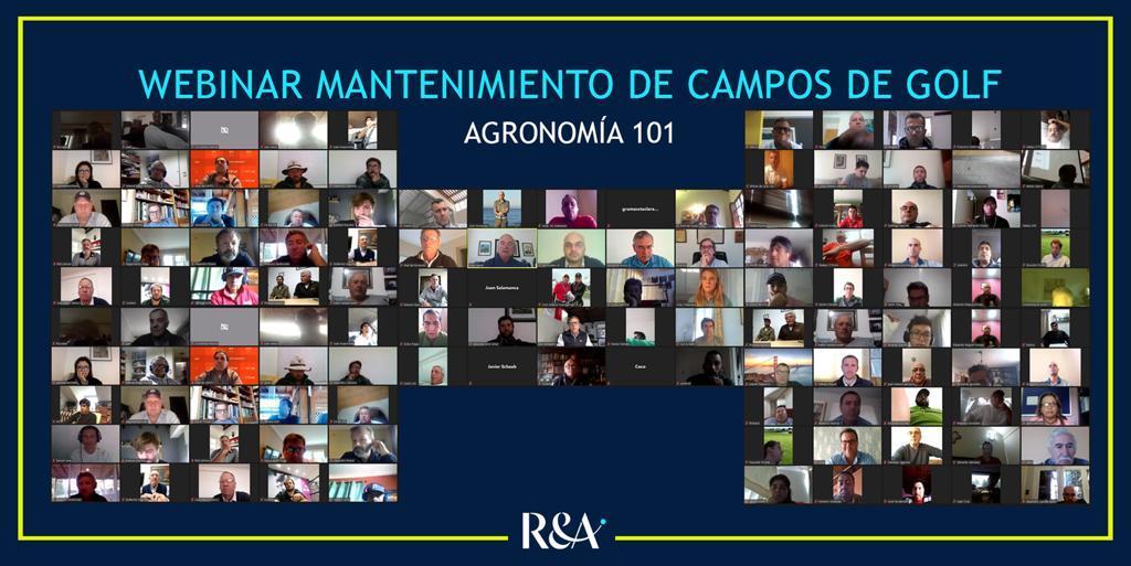 Éxito 1er Webinar The R&A Agronomía 101 – Mantenimiento de Campos de Golf