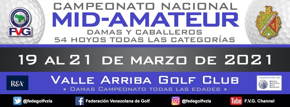 Inscripciones abiertas Campeonato Nacional Mid-Amateur