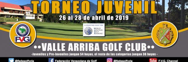 Inscripciones abiertas para el Torneo Juvenil Valle Arriba Golf Club
