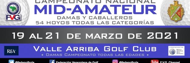 Pospuesto Campeonato Nacional Mid-Amateur