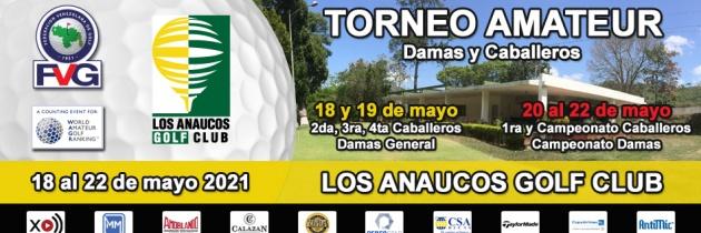 Incripciones abiertas Torneo Amateur Los Anaucos